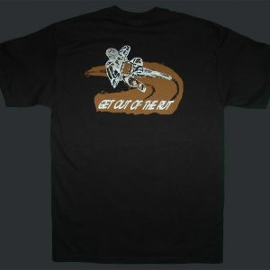 Get Out of the Rut Black Tee
