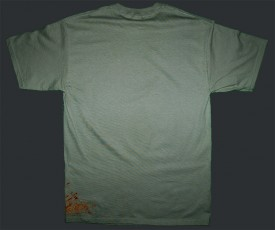 Splat Stonewashed Green Tee Back
