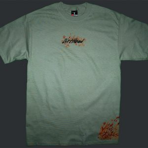 Splat Stonewashed Green Tee Front