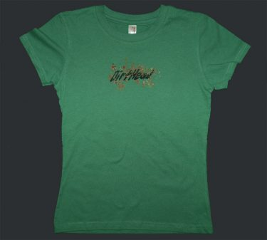 Womens Back Splatter Sage Green Tee Front