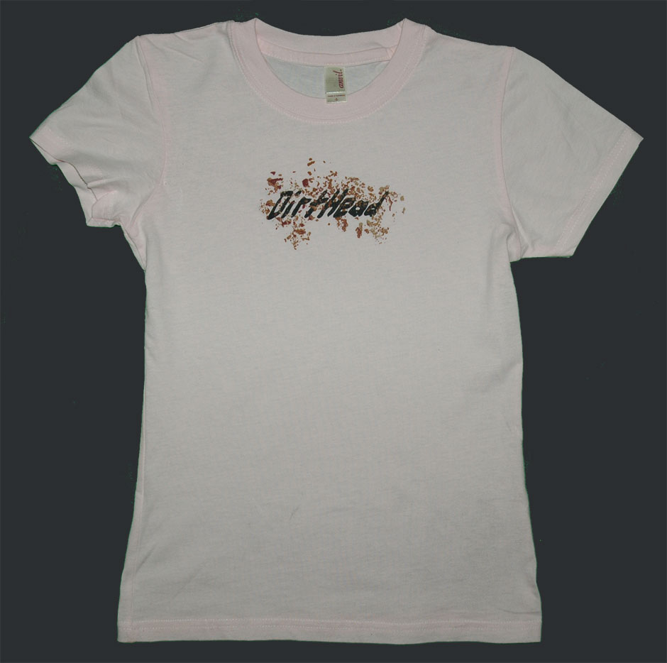 Women's Back Splatter Soft Pink Tee Front
