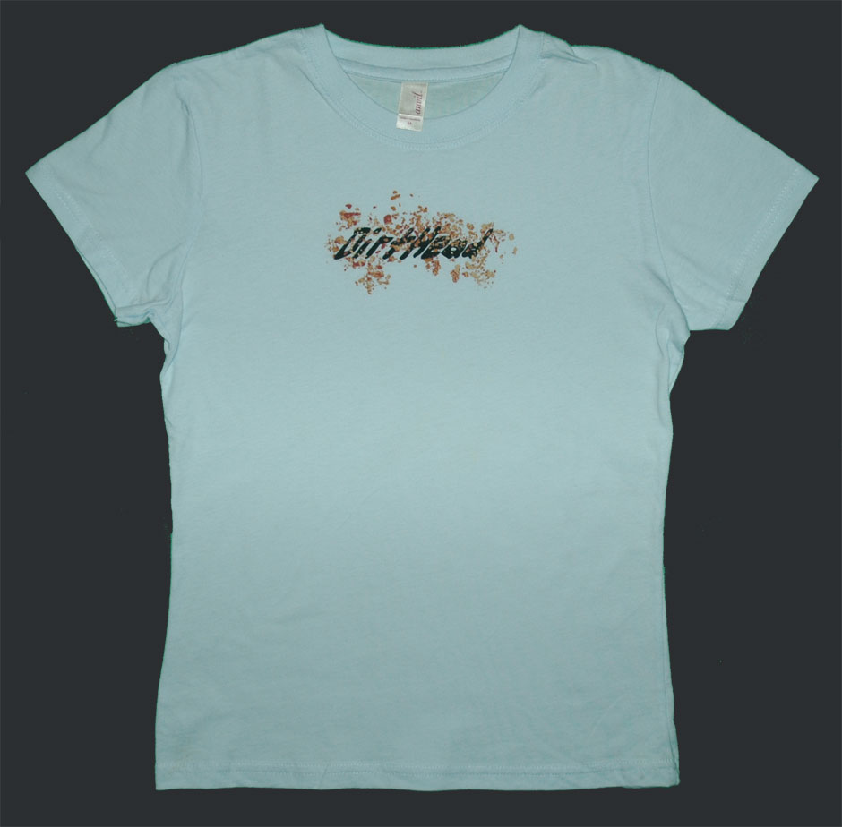 Womens DirtHead Puffy Soft Blue Tee